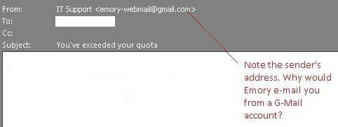 Image of a Gmail email address