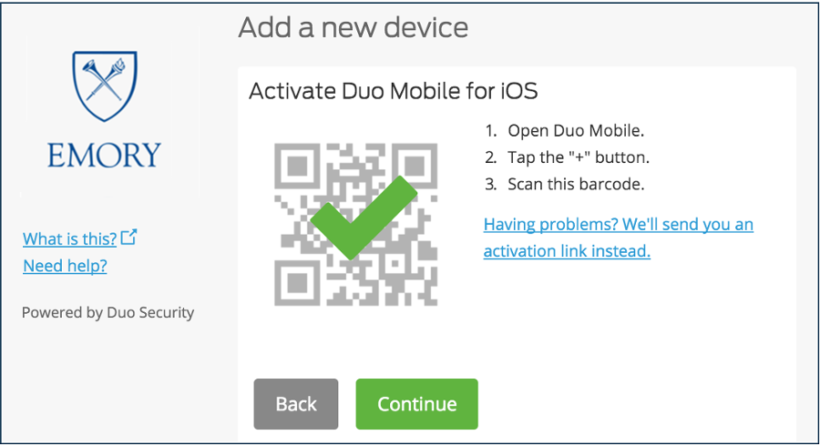 Duo Security Enrollment Instructions